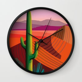 Phoenix Arizona Travel Poster Wall Clock