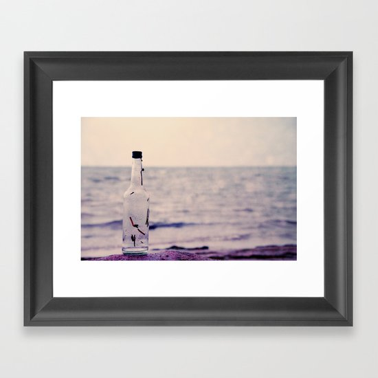 write me please.. Framed Art Print