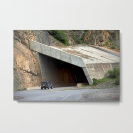 Tunnel above Red Mountain Creek Metal Print