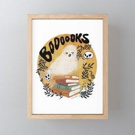 Spooky Book Lover Framed Mini Art Print