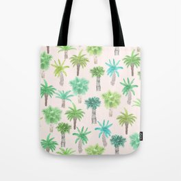 Watercolor Palm Trees Tote Bag