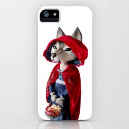 The little riding wood iPhone Case