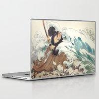 bouletcorp Laptop & iPad Skins featuring Tsunami by Bouletcorp