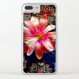 Cactus Flower By Design Clear iPhone Case