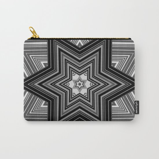Black and white abstract pattern. Graphics.  Carry-All Pouch