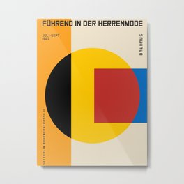 Vintage poster-Bauhaus Fuhrend in der Herrenmode 1923. Metal Print