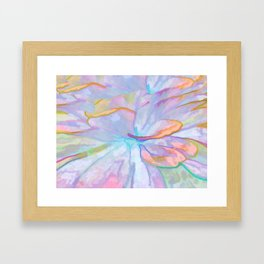 Soft Pastel Painted Petals Abstract Framed Art Print