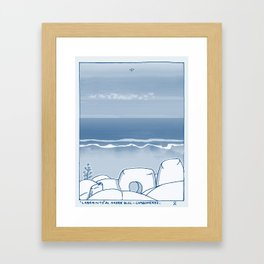 In Paradise Labyrinth Andre Bloc Framed Art Print