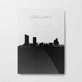 City Skylines: Grand Rapids Metal Print