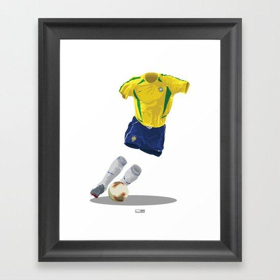 Brazil 2002 - World Cup Winners Framed Art Print