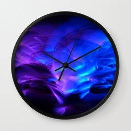 BLUE GLOWSTICKS Wall Clock