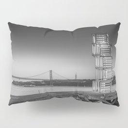 Central Tejo, Lisbon, Portugal (Black & White) Pillow Sham