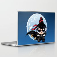 powerpuff girls Laptop & iPad Skins featuring Powerpuff Bayonetta by Marco Mottura - Mdk7