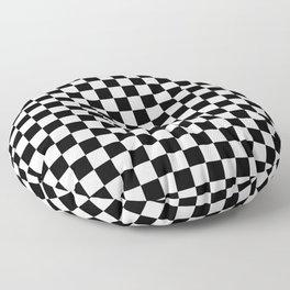 Checker (Black & White Pattern) Floor Pillow