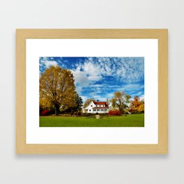 Country Home Framed Art Print