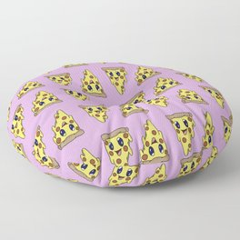 Pizza Pattern Pink Background Floor Pillow