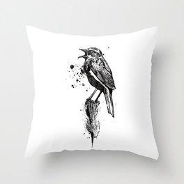 Birds/Prunella Modularis Throw Pillow