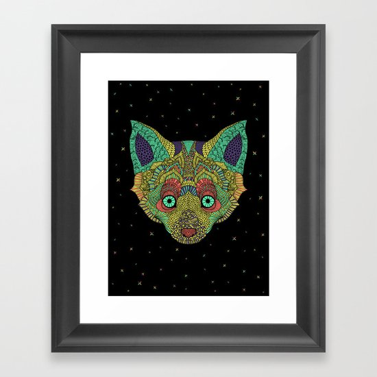 Intergalactic Fox Framed Art Print