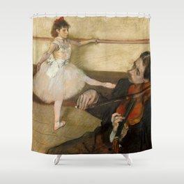 """Edgar Degas """"The Dance Lesson"""" Shower Curtain"""