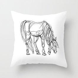 Little Line Horse Throw Pillow