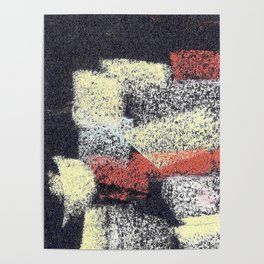 Multicolor abstract black Poster