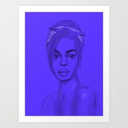 Joan in purple Art Print