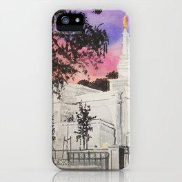 Melbourne Australia LDS Temple iPhone Case