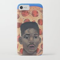 fresh prince iPhone & iPod Cases featuring Pizza Prince by Andiwa