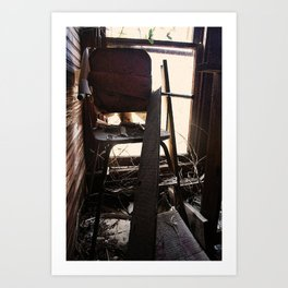 The Chair Abandoned Art Print