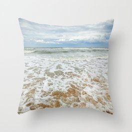 Consuming Waves Throw Pillow