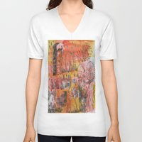 carnival V-neck T-shirts featuring Carnival by Verde Designs