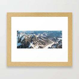 Moose's Tooth and Glacier in Denali Massif Framed Art Print