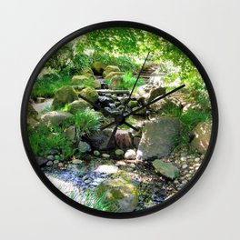 Tranquil stream Wall Clock