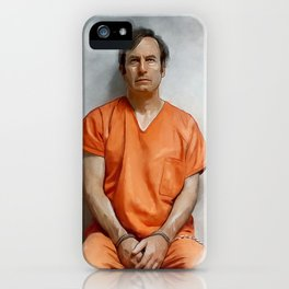 Jimmy McGill aka Saul Goodman In Prison Orange And Chains - Better Call Saul iPhone Case