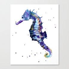 Seahorse painting, seahorse, seahorse illustration, beach lover gift, ocean lover art Canvas Print