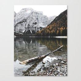 braies lake Canvas Print