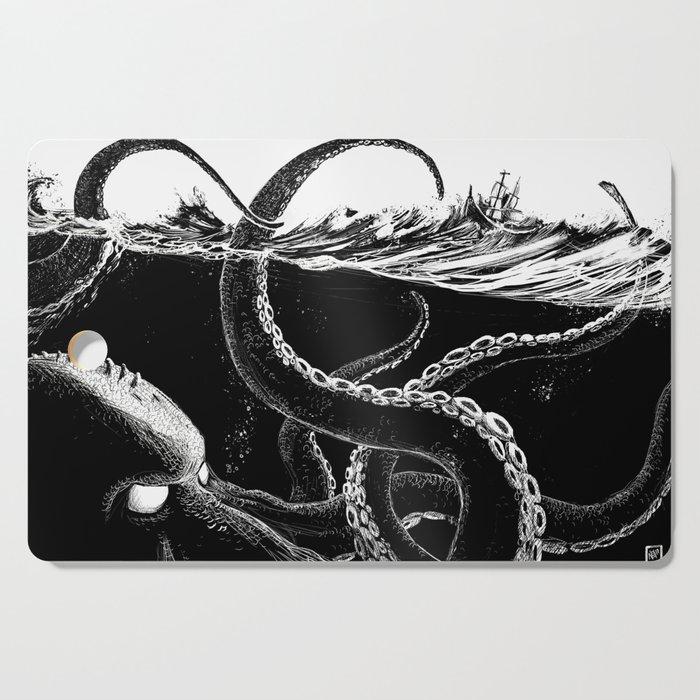 Kraken Rules the Sea Cutting Board
