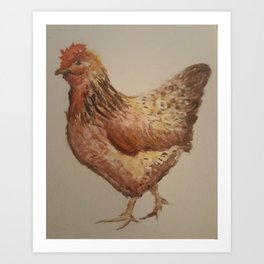 Mother Hen Art Print