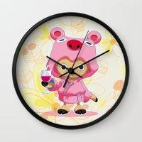 one piece Wall Clocks featuring One Piece: TonyTony Chopper by Neo Crystal Tokyo