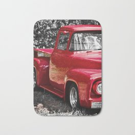 Antique Red Pickup Bath Mat