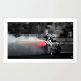 RaCe CaR>>> Art Print