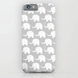Elephant Parade on Grey iPhone Case