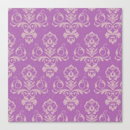 Purple Damask Canvas Print
