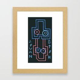 navel. hero. Framed Art Print