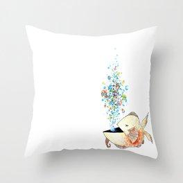 Fish Burp Throw Pillow