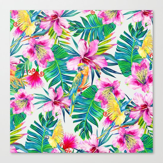 Parrot Beach Canvas Print