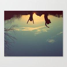 upsidedown&insideout Canvas Print