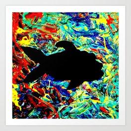 Mushy Fish Vibes Art Print
