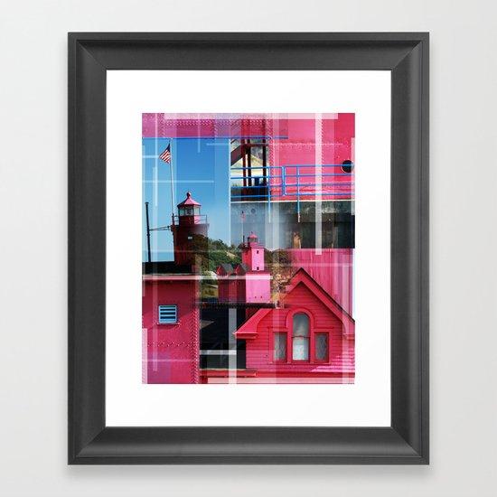 Lighthouse at Holland Park MI Framed Art Print