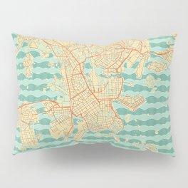 Helsinki Map Retro Pillow Sham